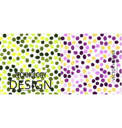 Set of geometric pattern abstract background vector