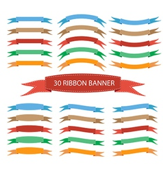 Set of ribbon banner vector image