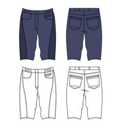 skinny shorts vector image vector image