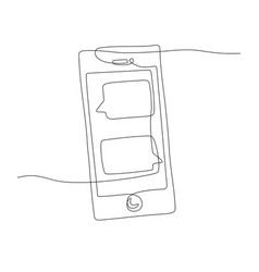 smartphone - one line design style vector image