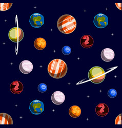 space elements seamless pattern vector image