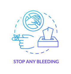 Stop any bleeding concept icon vector