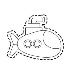submarine cartoon icon image vector image