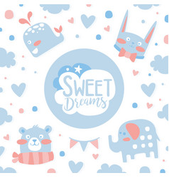 sweet dreams banner template invitation greeting vector image