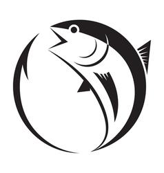 Symbol tuna and hook vector