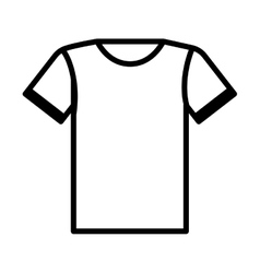T-shirt uniform team icon vector