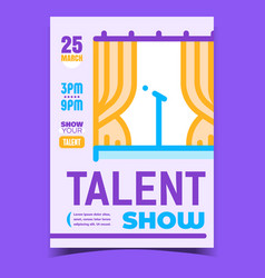 Talent show creative promotional banner vector