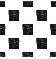Territory of brazil icon in black style isolated vector