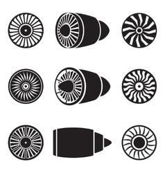 Turbines icons vector