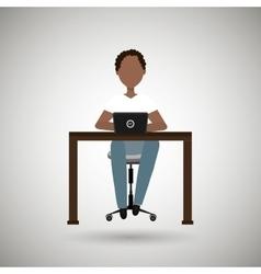 user computer design vector image