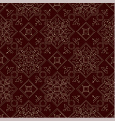 Vintage endless pattern burgundy background vector