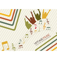 vintage music vector image