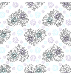 wedding floral seamless pattern romantic vector image