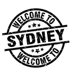welcome to sydney black stamp vector image
