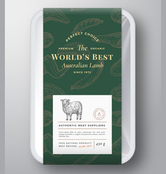 Worlds best lamb abstract plastic tray vector