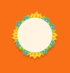 Wreath frame of spring flower collection vector