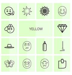 Yellow icons vector