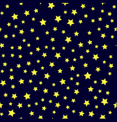 yellow star seamless pattern vector image