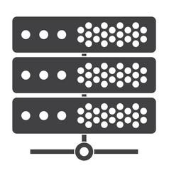 big data or server icon vector image vector image