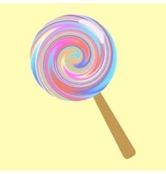 Bright lollipop vector image
