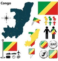 Congo map vector image vector image