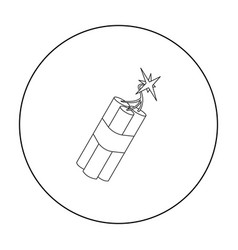 dynamite icon outline singe western icon from the vector image vector image