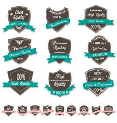 Grunge Premium Quality Labels vector image