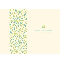Leaf texture horizontal frame seamless pattern vector image vector image