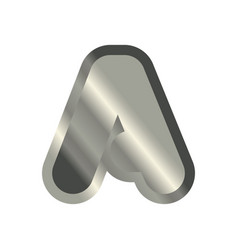 letter a steel font metal alphabet sign iron abc vector image vector image