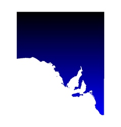 Map of South Australia vector image vector image
