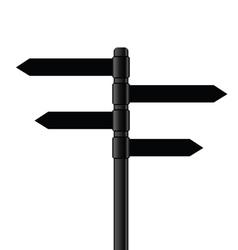 signboard metal black vector image vector image