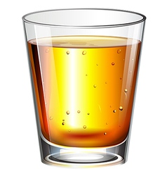 A glass of cocktail drink vector image