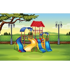 Playhouse in the middle of the park vector image vector image