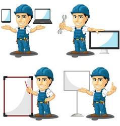 Technician or Repairman Mascot 16 vector image