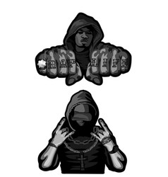 two rappers on white vector image