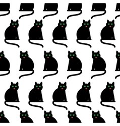 Black cats background vector image vector image