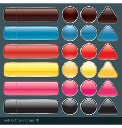 Blank buttons for website and application vector image vector image