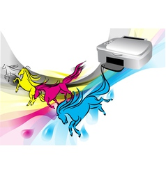colors of printer vector image