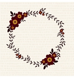 Cute frame with marigolds vector image