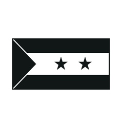 Flag of Sao Tome and Principe monochrome on white vector image vector image