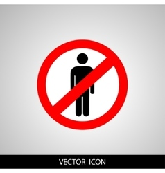 No people allowed No man sign isolated on white vector image vector image