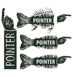 pointers to the human hand vector image