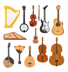 stringed musical instruments classical orchestra vector image vector image
