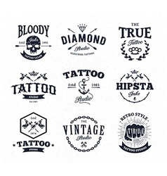 Tattoo Studio Emblems vector image