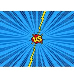 Comic book versus template background vector image