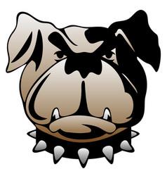 guard dog face vector image