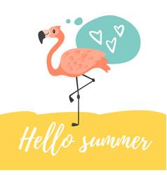 hello summer design vector image