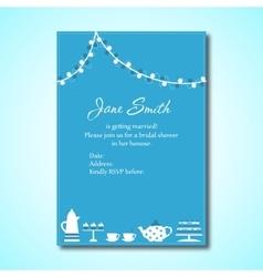 Invitation for Bridal Shower vector image
