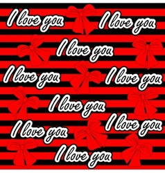 love you seamless pattern Colorful love vector image