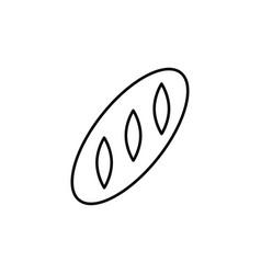 round bread icon vector image